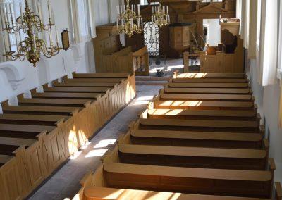 Interieur kerkgebouw Hervormde Gemeente Tjamsweer