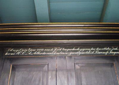 Orgel geschenk 1880 kerk Tjamsweer